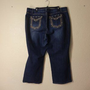 CATO Woman Jeans Flap Pockets Size 20W Boot Cut